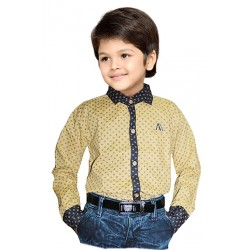 AD & AV Boy's Casual Spread Shirt beige  (317)
