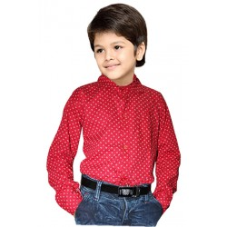 AD & AV Boy's Casual Spread Shirt light  red (318)