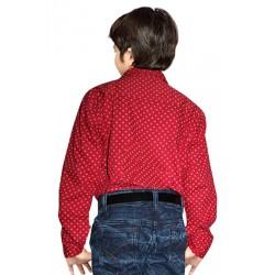 AD & AV Boy's Casual Spread Shirt light  red (318)