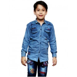 AD & AV Boy's Casual Spread Shirt BLUE (595)