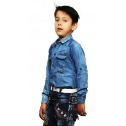 AD & AV Boy's Casual Spread Shirt BLUE (595)