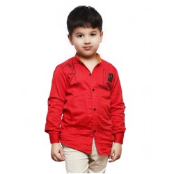 AD & AV Boy's Casual Spread Shirt RED (596)