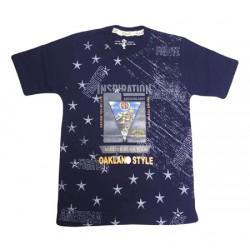 AD & AV Boy's Printed Cotton T Shirt  (Black, Pack of 1) 607