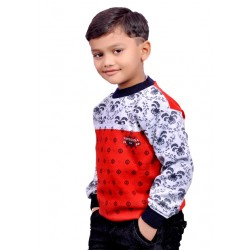 AD & AV Self Design Round Neck Casual Boys Multicolor Sweater