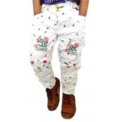 AD & AV Regular Fit Boy's white Trousers (131)