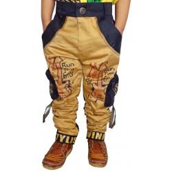 AD & AV Regular Fit Boys Gold Trousers (135)