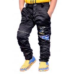 AD & AV Regular Fit Boys BLACK Trousers (150)