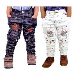 COMBO WHITE AND BLUE TROUSER