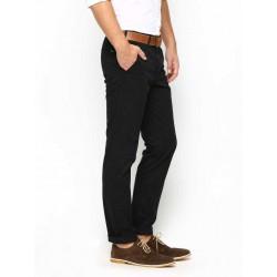 Regular Fit Men's Cream, Black Trousers