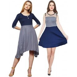 Women A-line Multicolor Dress
