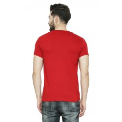AD & AV Solid Men's Henley red T-Shirt (729)