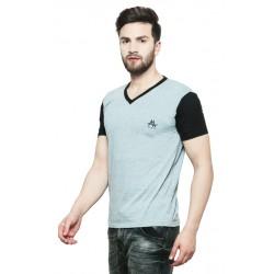 AD & AV Solid Men's V-neck NAVY T-Shirt HS (715)