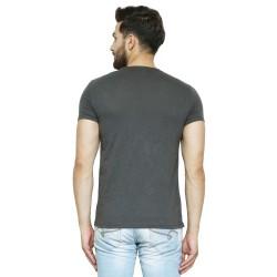 AD & AV Solid Men's U-neck BLACK T-Shirt HS (731)