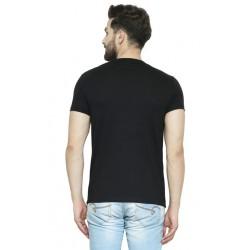 AD & AV Solid Men's V-neck BLACK T-Shirt HS (711)