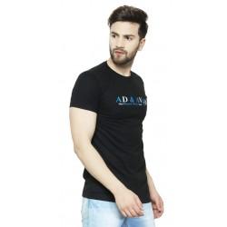 AD & AV Solid Men's V-neck nevy T-Shirt HS (662)