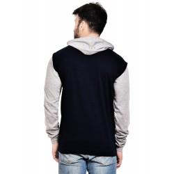 AD & AV Solid Men's V-neck GREY T-Shirt FS (632)