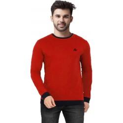 AD & AV Solid Men's V-neck nevy T-Shirt HS (633)
