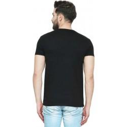 AD & AV Solid Men's U-neck BLACK T-Shirt FS (641)