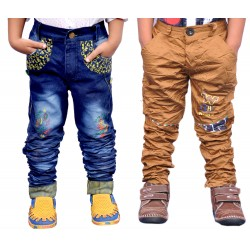 COMBO CRUSH JEANS  & KHAKI TROUSER
