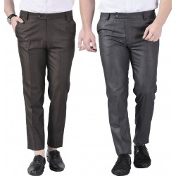 Regular Fit Men's combo gd grey and coffi