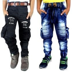 COMBO DENIM JOGGERS AND NEW BLACK CARGO