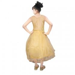 AD & AV Girls Midi/Knee Length Casual Dress CREAM FROCK (246)