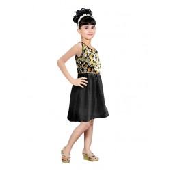 AD & AV Girls Midi/Knee Length Casual Dress BM BLACK (358)