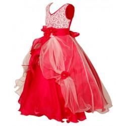 AD & AV Girls Midi/Knee Length Casual Dress red gown (373)