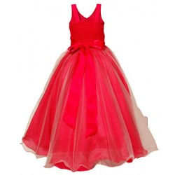 AD & AV Girls Midi/Knee Length Casual Dress red gown (373)
