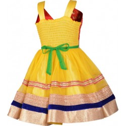 AD & AV Girls Midi/Knee Length Casual Dress RANGBIRANGI (374)