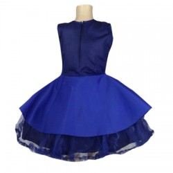 AD & AV Girls Midi/Knee Length Casual Dress blue skuba (377)