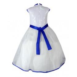 AD & AV Girls Midi/Knee Length Party Dress  (WHITE, Sleeveless) (387)