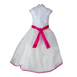 AD & AV Girls Midi/Knee Length Party Dress  (WHITE, Sleeveless) (381)