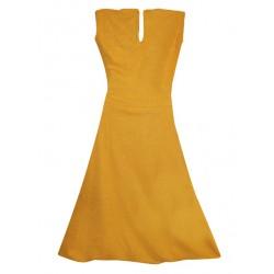 AD & AV Girls Midi/Knee Length Party Dress  (GOLD, Sleeveless) (384)