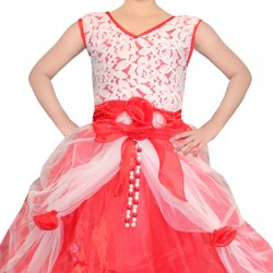 AD & AV Girls Maxi/Full Length Party Dress  (Multicolor, Sleeveless) 396