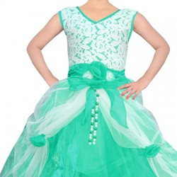 AD & AV Girls Maxi/Full Length Party Dress  (Multicolor, Sleeveless) 398