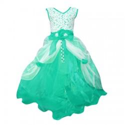 AD & AV Girls Maxi/Full Length Party Dress  (Multicolor, Sleeveless) 399