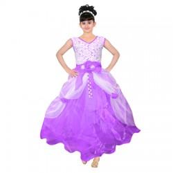 AD & AV Girls Maxi/Full Length Party Dress  (Multicolor, Sleeveless)400