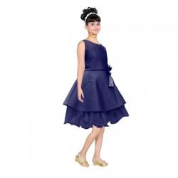 AD & AV Girls Midi/Knee Length Casual Dress BLUE  (406)