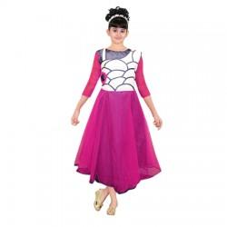 AD & AV Girls Midi/Knee Length Party Dress  (Multicolor, 3/4 Sleeve) 410