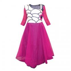 AD & AV Girls Midi/Knee Length Party Dress  (Multicolor, 3/4 Sleeve) 411