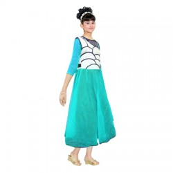AD & AV Girls Midi/Knee Length Party Dress  (Multicolor, 3/4 Sleeve) 412