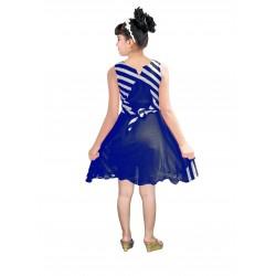 AD & AV Girls Midi/Knee Length Party Dress ( blue, Sleeveless) (424)