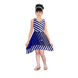AD & AV Girls Midi/Knee Length Party Dress ( blue, Sleeveless) (424)