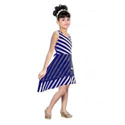 AD & AV Girls Midi/Knee Length Party Dress ( blue, Sleeveless) (453)