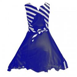 AD & AV Girls Midi/Knee Length Party Dress ( blue, Sleeveless) (425)