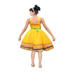 AD & AV Girls Midi/Knee Length Party Dress ( MULTICOLOR, Sleeveless) (427)