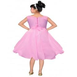 AD & AV Girls Midi/Knee Length Party Dress  (PINK, Sleeveless) 430