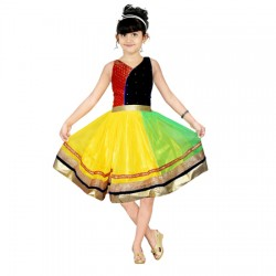 AD & AV Girls Midi/Knee Length Party Dress ( MULTICOLOR, Sleeveless) (451)