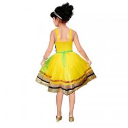 AD & AV Girls Midi/Knee Length Party Dress ( MULTICOLOR, Sleeveless) (451)